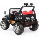Masinuta electrica 12V cu roti din cauciuc Drifter Jeep 4x4 Negru