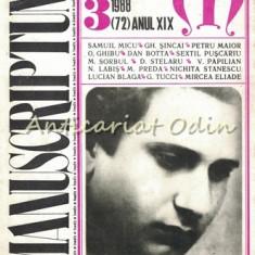Manuscriptum. Revista Trimestriala - Nr.: 3/1988 * (72) Anul XIX