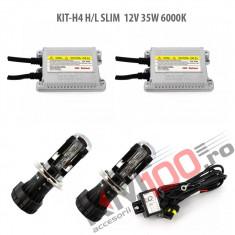 Set xenon H4 Bixenon SLIM 12V 35W 6000K