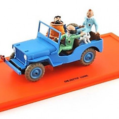 Machete Auto JEEP CJ 2a 24 - OBJECTIF LUNE - Tintin Collection by Atlas 1:43