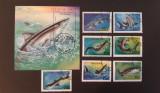Tanzania - Rechini (1993) - serie completa + colita, Stampilat