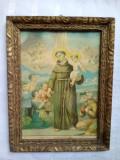 Litografie veche - Sfântul Anton de la Padova