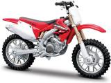 Macheta BBURAGO Motocicleta Honda CRF450R, scara 1:18 Rosu