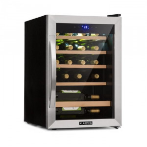 Klarstein Vinamour 19, sticle de vin, 19 fl., 65 l, 4 - 18 °C, 39 dB, sticlă, negru