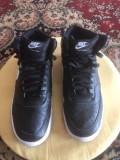 Nike Court Vision piele naturala, nr 42,5-27 cm, 42.5, Negru