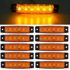 Lampa laterala 6 LED-uri Galbena 24v