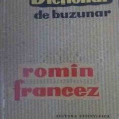 DICTIONAR DE BUZUNAR ROMAN FRANCEZ - ION BRAESCU SI COLAB.