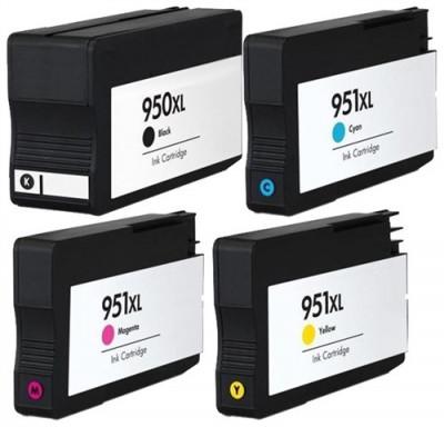 Set 4 cartuse imprimanta HP 950XL Black/951XL Cyan/951XL Magenta/951XL Yellow compatibile foto
