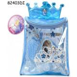 Rucsac cu accesorii pentru par Cinderella, 8 piese, 3 ani+