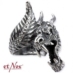 Inel argint Dragon