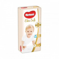 Scutece Huggies Elite Soft, Nr 5, 12 - 22 Kg, 56 buc, 9400776