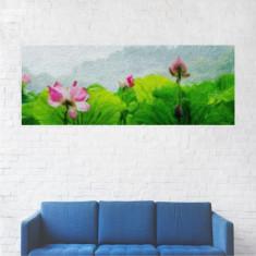 Tablou Canvas, Pictura cu Flori - 90 x 225 cm