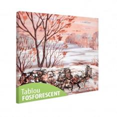 Tablou fosforescent Peisaj de iarna siberiana