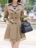 Trench superb dama bej din Coreea de Sud, L