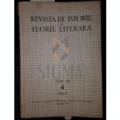 REVISTA DE ISTORIE SI TEORIE LITERARA, 1969, TOM. 18, NR. 4 - NOVICOV M. SI DIMA AL. (REDACTORI)