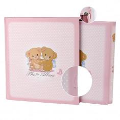 Album foto personalizabil, cutie protectie, 200 poze, format 10x15, roz, Resigilat