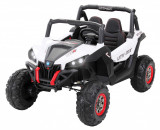 Cumpara ieftin Buggy electric pentru 2 copii Premier 4x4 Superstar, cu 2 baterii, roti cauciuc EVA, scaun piele ecologica, alb