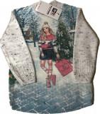 Cumpara ieftin Bluza fashion fetite cu maneca lunca - 02-03 ani