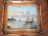 Pictura / tablou ulei autentica, semnata, 60x49 / 80x69cm, inramata, ca nou, Natura, Impresionism
