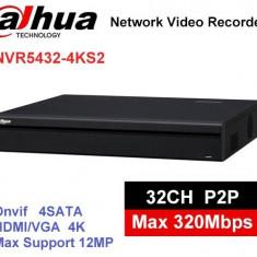 NVR 32 canale DAHUA NVR5432-4KS2 Rezolutie 12MP, banda 320Mbps, 4xHDD