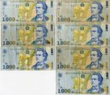 Lot 14 x  Bancnote 5000 lei 50,000 10,000 2000 1000 lei Romania anii '90