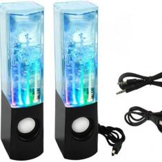 Boxe Audio Decorative Iluminate LED tip Fantana Arteziana cu Apa