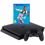 Consola SONY PlayStation 4 Slim 500GB, negru + FIFA 19