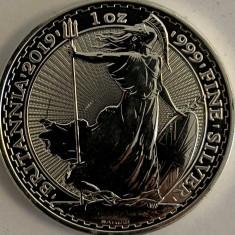 MAREA BRITANIE 2 POUNDS,1 OZ, 2019 AG.999, Europa, Argint