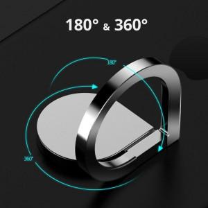 Suport Universal Tip Inel pentru Telefon Picatura de ploaie Rotatie 360° Negru