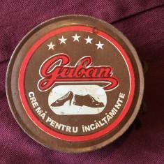 Reclama - Veche cutie de colectie Guban / crema pentru Incaltaminte / Anii 90 !