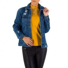 Jacheta sic, de culoare albastra, din denim - Naumy Jeans