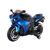 Motocicleta electrica cu roti ajutatoare Aspen Blue, Moni