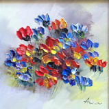 Tablou ulei (15/15 )- FLORI DE CAMP, Impresionism
