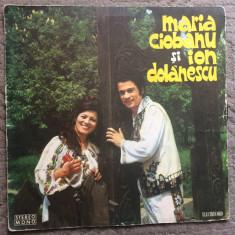 Maria ciobanu ion dolanescu disc vinyl lp muzica populara folclor stm epe 828, VINIL, electrecord