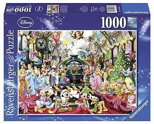 Puzzle Craciunul In Familia Disney, 1000 Piese foto