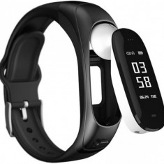 Bratara fitness smart RegalSmart V08-188 casca bluetooth, monitorizare puls,...