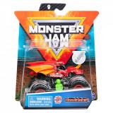Masinuta Monster Jam, Scara 1:64, Dragonoid cu figurina, Rosu