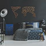 Cumpara ieftin Decoratiune pentru perete, Ocean, metal 100 procente, 120 x 58 cm, 874OCN1060, Maro