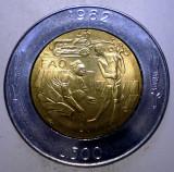 1.151 SAN MARINO FAO 500 LIRE 1982 AUNC BIMETAL, Europa
