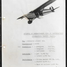Fotografie avion Caproni Ca 111 al doilea razboi mondial