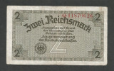 GERMANIA  NAZISTA 2 MARCI REICHSMARK  1940 [10] P- 137b , 8 cifre , Litera Q ,VF