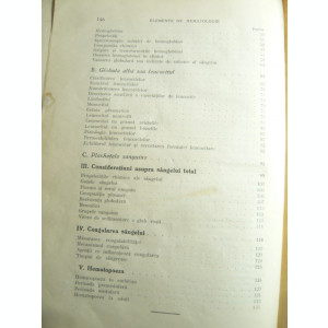 Dr.A.Hagi Paraschiv - Elemente de Hematologie - Ed.1936 , 146 pag  Coperti uzate
