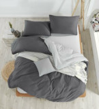 Lenjerie de pat dublu EnLora Home, din bumbac 65 procente, poliester 35 procente, 200 x 220 cm, 162ELR1426