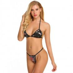 Costum de baie mini reglabil colours sexy Sutien Bikini Tanga Lady Lust