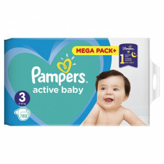 Scutece Pampers Active Baby 3 Junior Mega Box, 152 buc/pachet