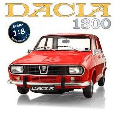 Macheta auto Dacia 1300, scara 1:8, revistele sunt sigilate, nemontate