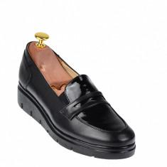 Pantofi dama casual din piele naturala, foarte comozi - P105NBOXLAC