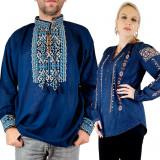 Cumpara ieftin Set Traditional Cuplu 101 Camasi traditionale cu broderie