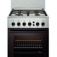 Aragaz Electrolux EKG51153OX, Gaz, 4 Arzatoare, Aprindere electrica plita si cuptor, Grill, 50 cm, Inox