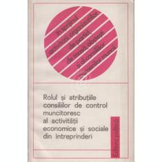 Rolul si atributiile consiliilor de control muncitoresc al activitatii economice si sociale din intreprinderi